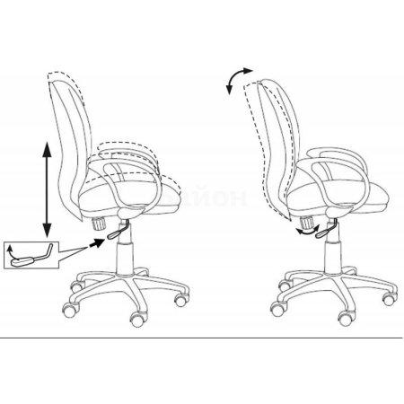 Кресло Бюрократ CH-G687AXSN/V-01 серый ромбик бежевый V-01 (пластик серый)
