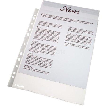 Папка-вкладыш Esselte 56171 прозрачный матовые А4 48мкм (упак.:100шт)