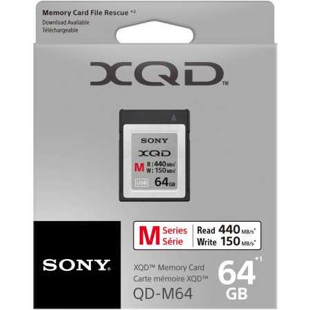 Sony QDM64 XQD 64Gb M series XQD, без класса, 64Гб