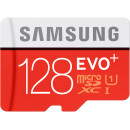 Samsung microSDXC EVO Plus 80MB/s + SD adapter 128Гб Красный