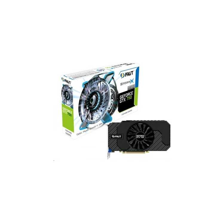 Palit GeForce GTX 750 StormX OC 1024Мб, GDDR5, 1087MHz, PCI-Ex16 3.0