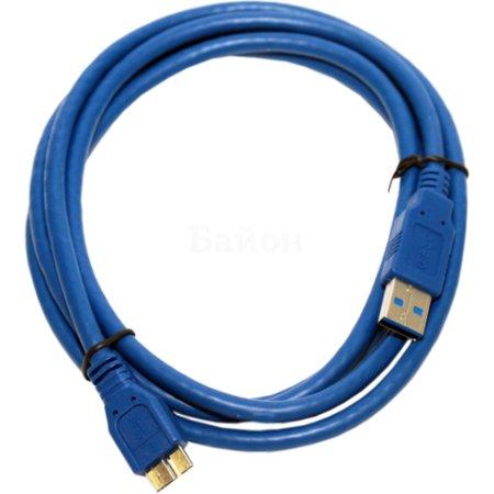 5bites USB 3.0 А-> microB, 1 м 1м, USB-A, Микро-USB, Синий