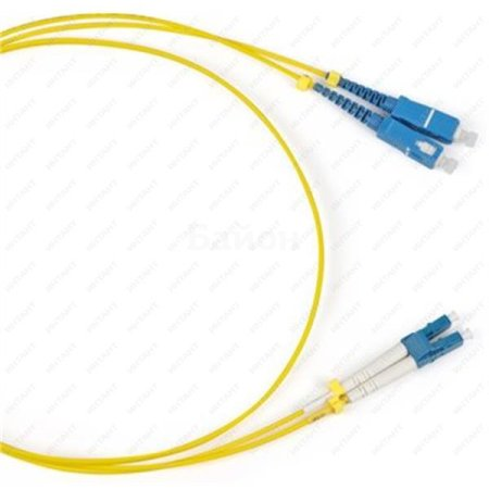 Оптический коммутационный переходной шнур (патч-корд), для одномодового кабеля (SM), 9/125 (OS2), LC/UPC-SC/UPC, двойного исполнения (Duplex), LSZH, 1м