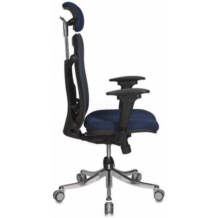 Кресло руководителя Бюрократ CH-999ASX/BL/TW-10N спинка сетка синий сиденье темно-синий TW-10N крестовина хром