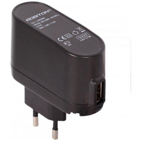 Блок питания c USB разъемом для авто Robiton USB 1000/ Auto ;1000Ма