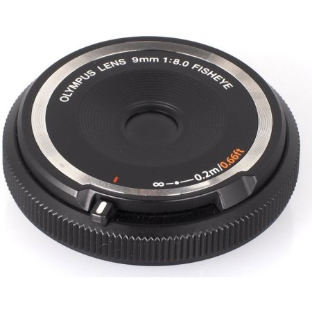 Olympus 9mm f/8 Fish-Eye Body Cap «Рыбий глаз», Micro 4/3