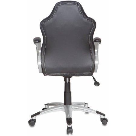 Кресло руководителя Бюрократ CH-825S/Black+Bl вставки синий сиденье черный искусственная кожа пластик серебро