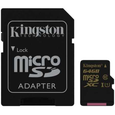 Kingston Ultimate microSDHC, 64Гб, Class 10