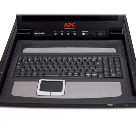 """APC by Schneider Electric APC 17"""" Rack LCD Console rack-mountable 1U keyboard, mouse, optional integrated KVM Switch - Russian"""
