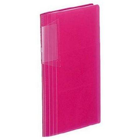 Визитница Kokuyo NOVITA MEI-N218P 191x119мм (180 визиток) пластик 30стр. розовый