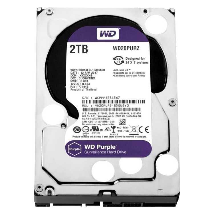 """Western Digital Purple WD20PURX 1.8"""" HDD"""
