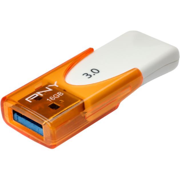PNY Attaché 4 3.0 FD16GATT430-EF 16 Гб, оранжевый, USB 3.0 от Байон