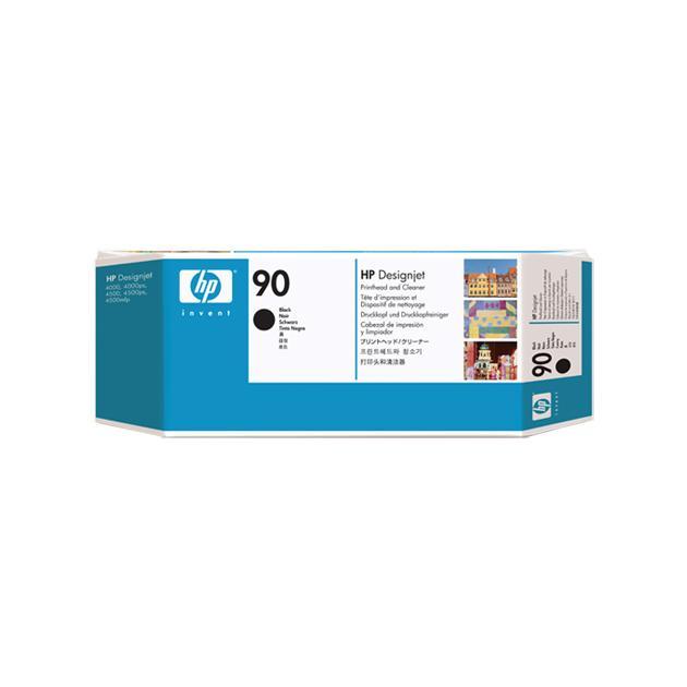 HP Inc. Печатающая головка HP 90 с устройством очистки, чёрная