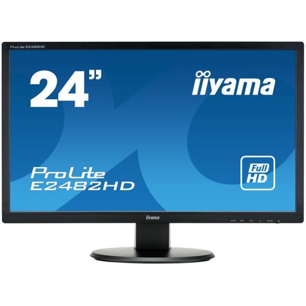 """Iiyama Prolite E2482HD-B1 24"""", Черный, DVI, Full HD"""