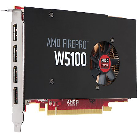 HP AMD FirePro W5100 4096Мб, GDDR5, 930MHz