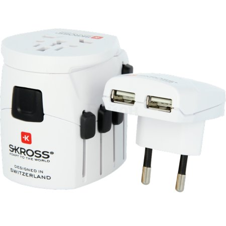 Skross World Adapter Pro USB Белый