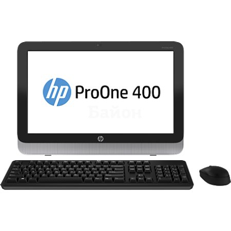 HP ProOne 400 G1 нет, Черный, 4Гб, 500Гб, DOS, Intel Core i5