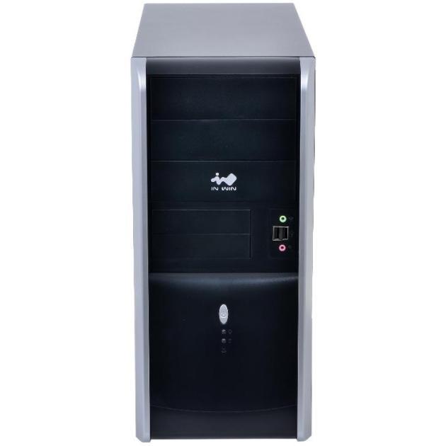 IN WIN Midi Tower InWin EAR007 Black/Silver 450W 2*USB 3.0+Audio ATX