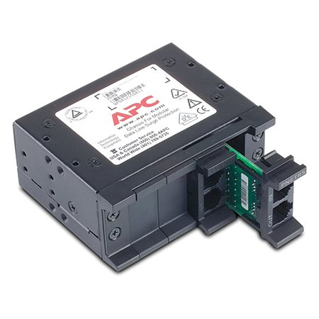 APC by Schneider Electric APC 4 position chassis, 1U, for replaceable data line surge protection modules