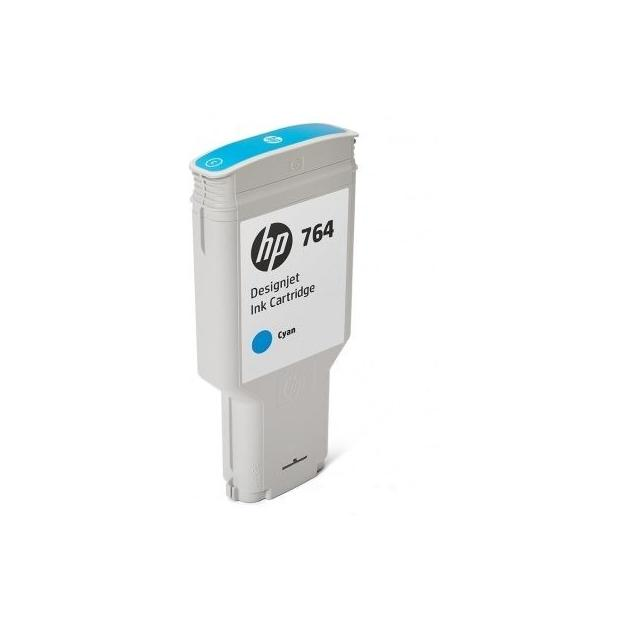 HP 764 Голубой, Картридж струйный, Стандартная, нет