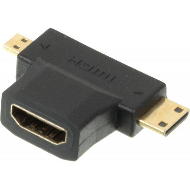 Переходник HDMI + Mini HDMI (Male) HDMImicro (m)/HDMI19 (f)