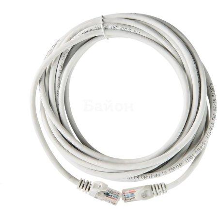 Коммутационный шнур (патч-корд), кат.5Е UTP, LSZH, 3м, серый