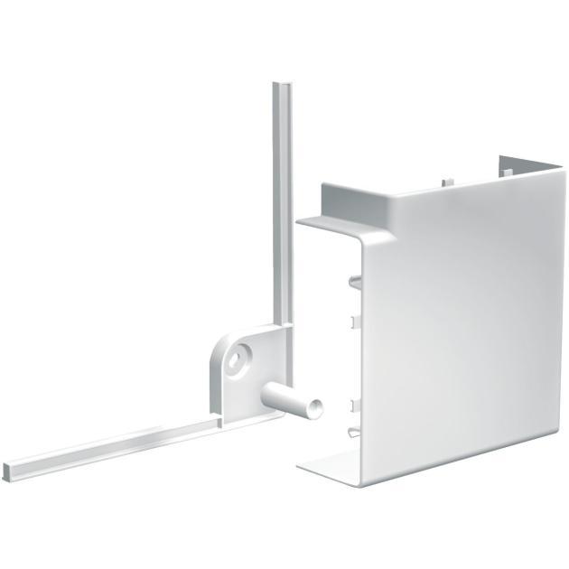 Schneider Electric OptiLine 45 Угол короба плоский 95х55мм, ПВХЭлектромонтажные системы<br>Производитель Schneider Electric<br>Гарантия 2 года<br>Назначение  Колено 90°<br>Совместимость н/д<br>Дополнительная информация Материал шинопровода: Пластиковый;<br>Монтаж: Винт устанавливается защелкиванием;<br>Материал: PC/ABS<br>Ссылка на сайт производителя http://www.schneider-electric.com/...<br>