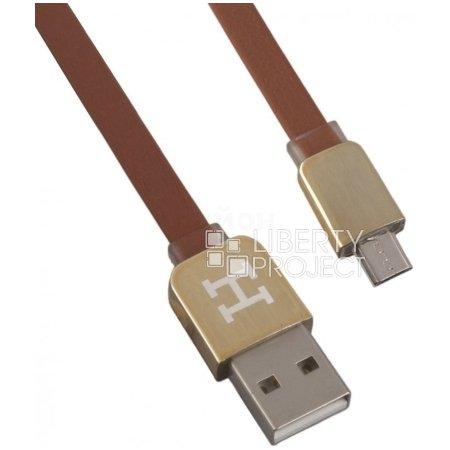 Hermes USB-microUSB, 1 м 1м, Микро-USB, USB, Коричневый