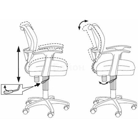 Кресло Бюрократ CH-W797/PK/TW-13A спинка сетка розовый сиденье розовый TW-13A пластик белый