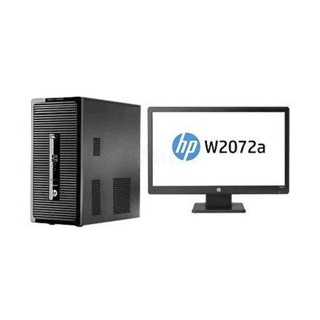 "HP ProDesk 400 G2 L9U33EA MT, 3200МГц, Intel Pentium, 500Гб, DOS, +Монитор HP 20"" W2072a"