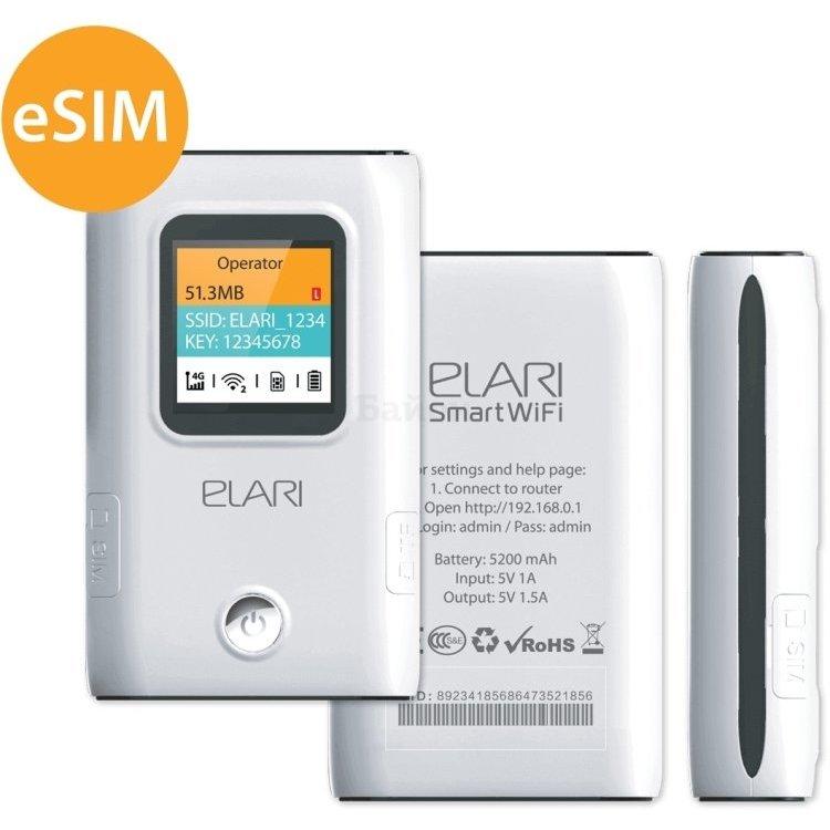 Портативный 4G роутер Elari SmartWifi Lite Белый