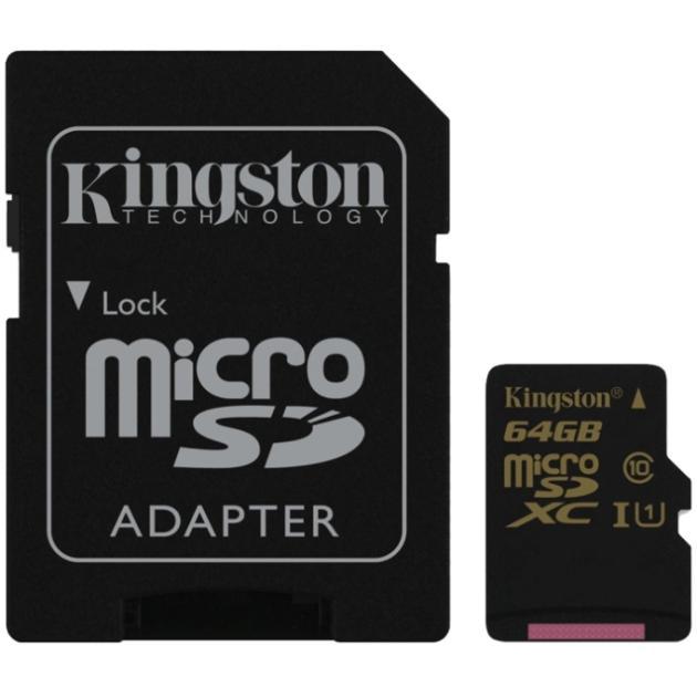 Kingston Ultimate microSDHC, 64Гб, Class 10