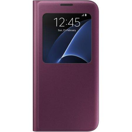 Samsung для Samsung Galaxy S7 edge S View Cover чехол-книжка, полиуретан, Бордо