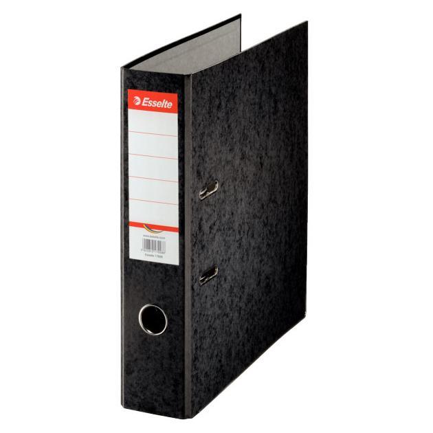 Папка-регистратор Esselte Rainbow 17929P A4 75мм картон черный
