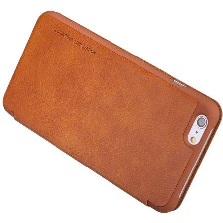 Apple iPhone 6 Plus/6S Plus Nillkin Qin leather case для iPhone 6 Plus/6S Plus чехол-книжка, кожа, Коричневый