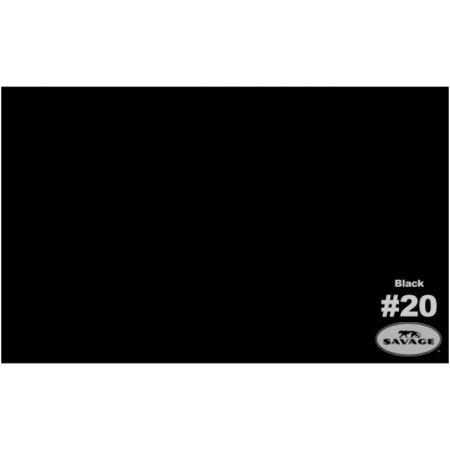 Фон бумажный Savage 20-12 WIDETONE BLACK цвет