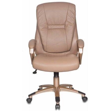 Кресло руководителя Бюрократ CH-875C/Mocca мокко искусственная кожа пластик медь