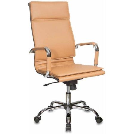 Кресло руководителя Бюрократ CH-993/camel светло-коричневый искусственная кожа крестовина хромированная