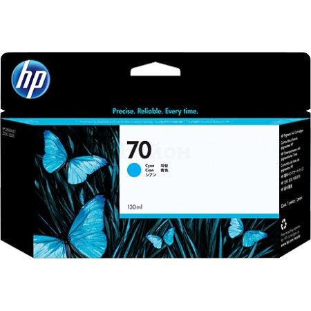 HP 70 Голубой, Картридж струйный, Стандартная, нет