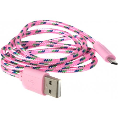 LP USB-micro USB 1м, Микро-USB, USB, Розовый