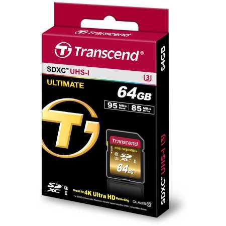 Transcend Ultimate TS64GSDU3X SDXC, Class 3, 64Гб