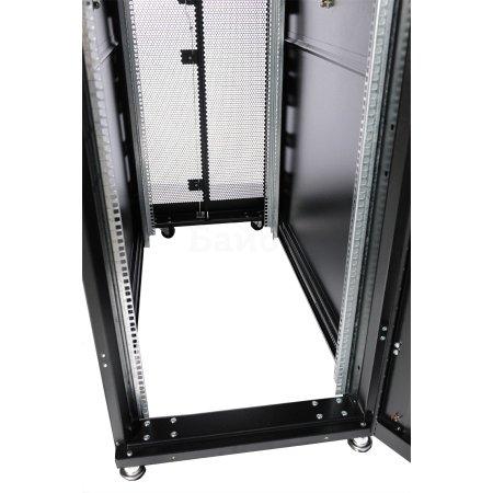 ЦМО Шкаф серверный ПРОФ напольный 42U (600x1000) дверь перфорированная 2 шт., цвет черный, в сборе(ШТК-СП-42.6.10-44АА-9005)