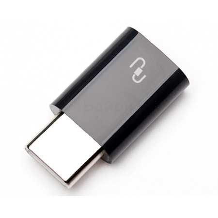 Xiaomi microUSB-USB Type-C USB-C, Микро-USB, Черный