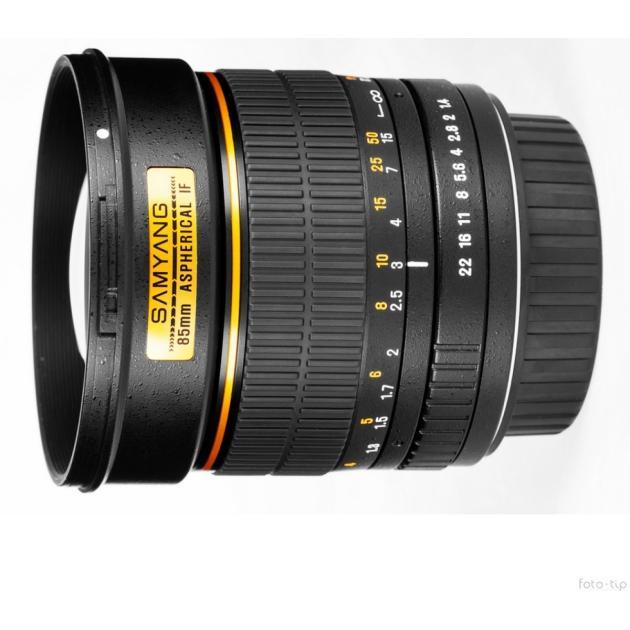 SAMYANG MF 85mm f/1.4 AS IF Телеобъектив, Sony E, Совместимость с полнокадровыми фотоаппаратами