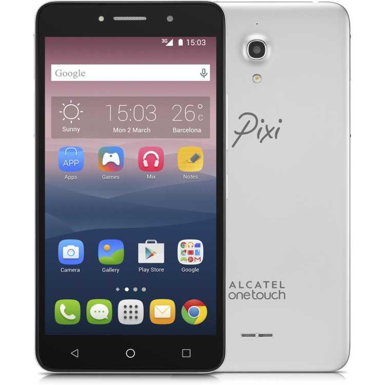 Alcatel OneTouch Pixi 4 8050D Серебристый