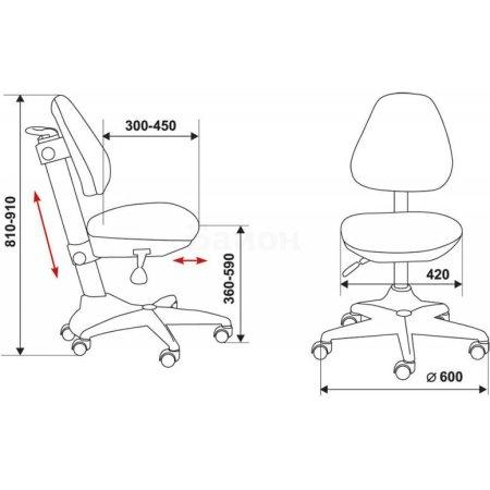 Кресло детское Бюрократ KD-2/BL/TW-55 светло-голубой TW-55