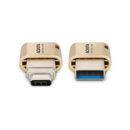 AData UC350 32Гб, Золотой, металл, USB 3.1