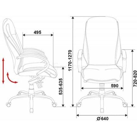 Кресло руководителя Бюрократ T-9930SL/Black черный кожа крестовина хром