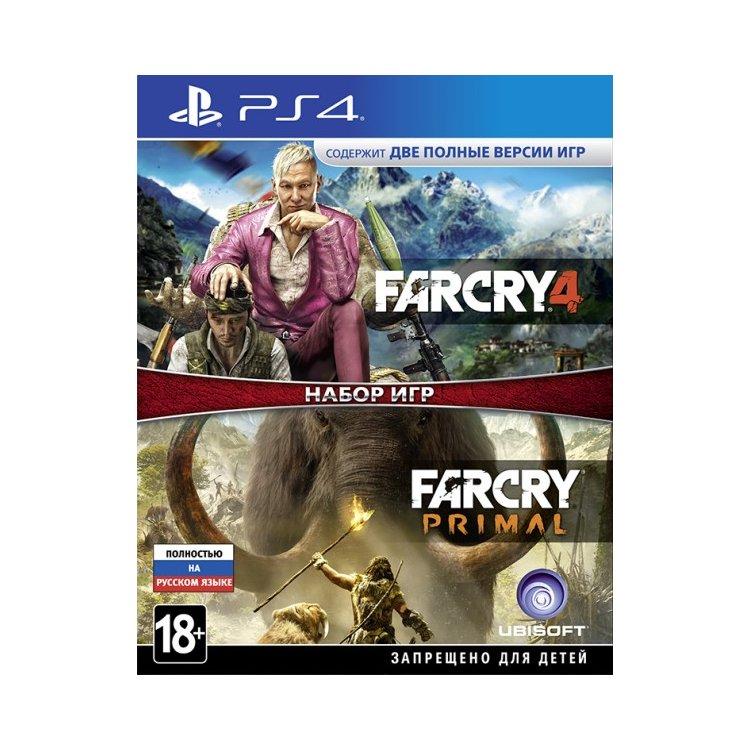 Комплект: Far Cry 4 + Far Cry Primal Sony PlayStation 4, Русский язык