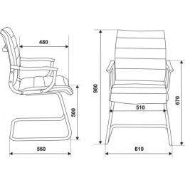 Кресло Бюрократ CH-994AV/Red красный искусственная кожа